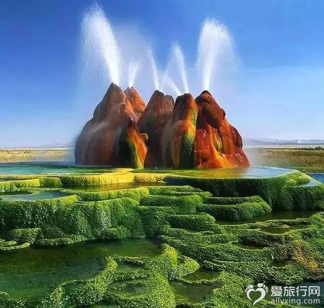飛噴泉美國內華達州