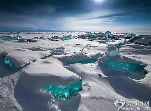 貝加爾湖翡翠冰俄羅斯