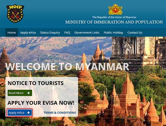 缅甸电子签证1